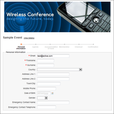 conference registration forms